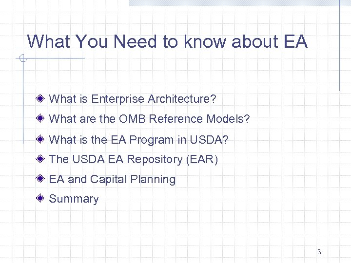 What You Need to know about EA What is Enterprise Architecture? What are the