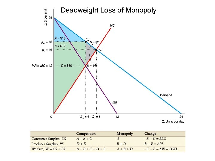 Deadweight Loss of Monopoly 13