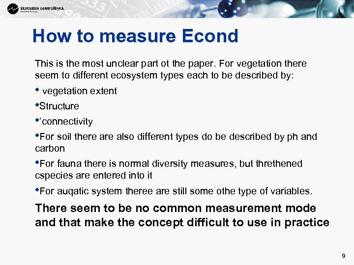 9 How to measure Econd This is the most unclear part ot the paper.