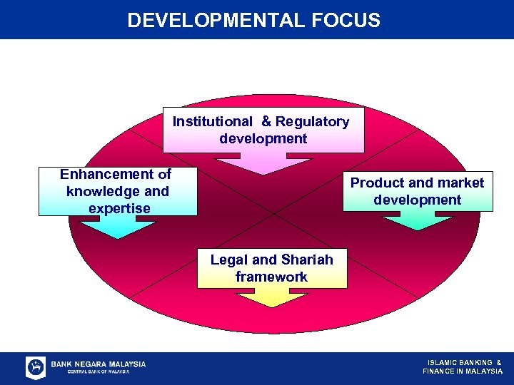 DEVELOPMENTAL FOCUS Institutional & Regulatory development Enhancement of knowledge and expertise Product and market
