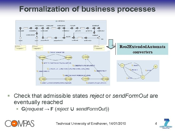 Formalization of business processes Reo 2 Extended. Automata converters § Сheck that admissible states