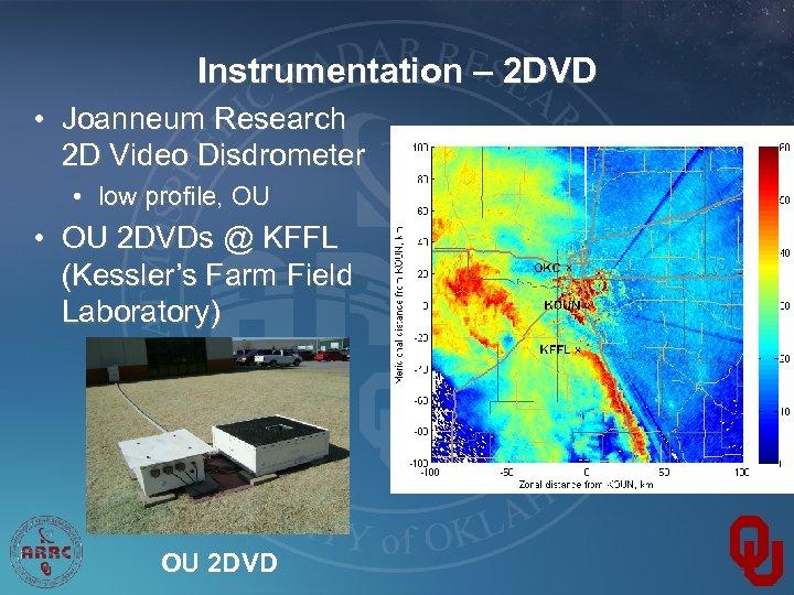 Instrumentation – 2 DVD • Joanneum Research 2 D Video Disdrometer • low profile,