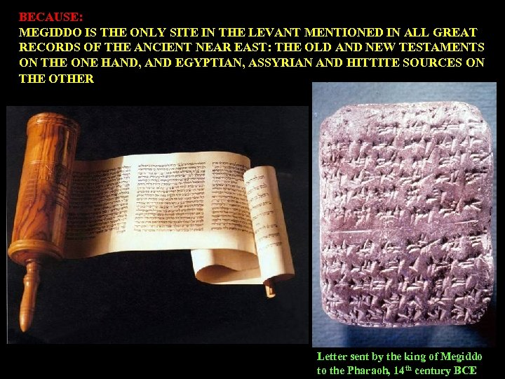 BECAUSE: MEGIDDO IS THE ONLY SITE IN THE LEVANT MENTIONED IN ALL GREAT RECORDS