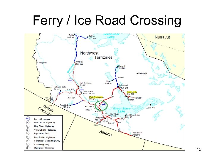Ferry / Ice Road Crossing 45