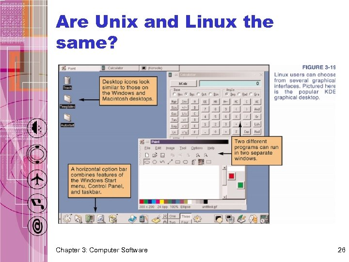 Are Unix and Linux the same? Chapter 3: Computer Software 26