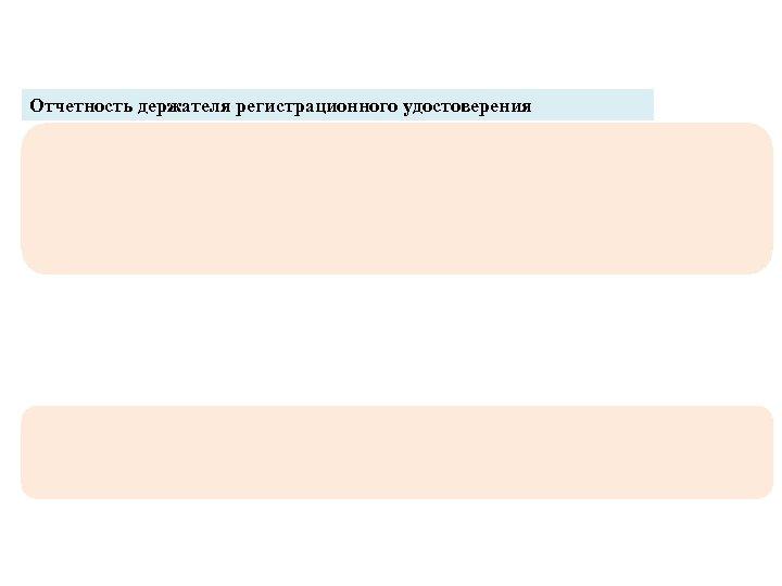 Отчетность держателя регистрационного удостоверения