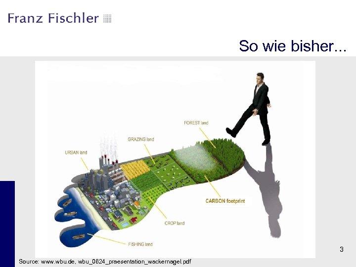 So wie bisher. . . 3 Source: www. wbu. de, wbu_0624_praesentation_wackernagel. pdf