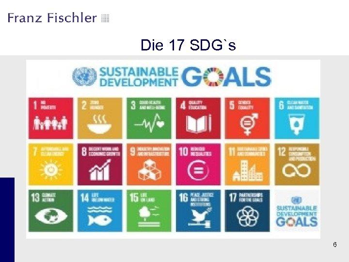 Die 17 SDG`s 6