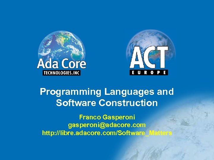 Libre Adacore Free Download
