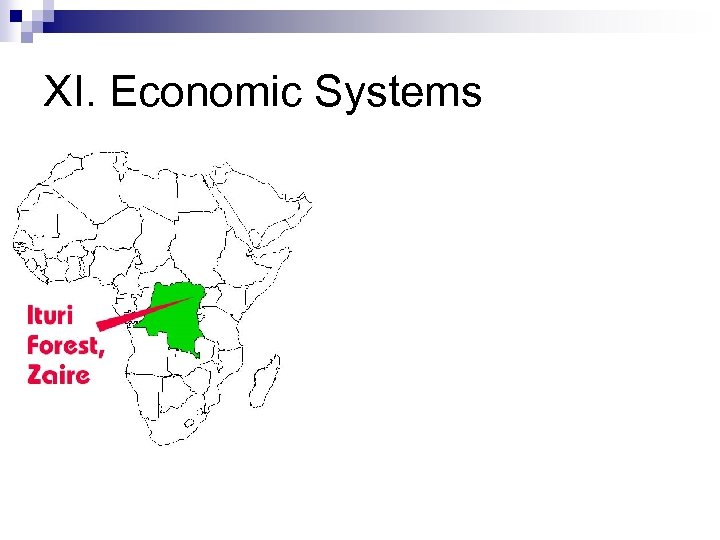 XI. Economic Systems