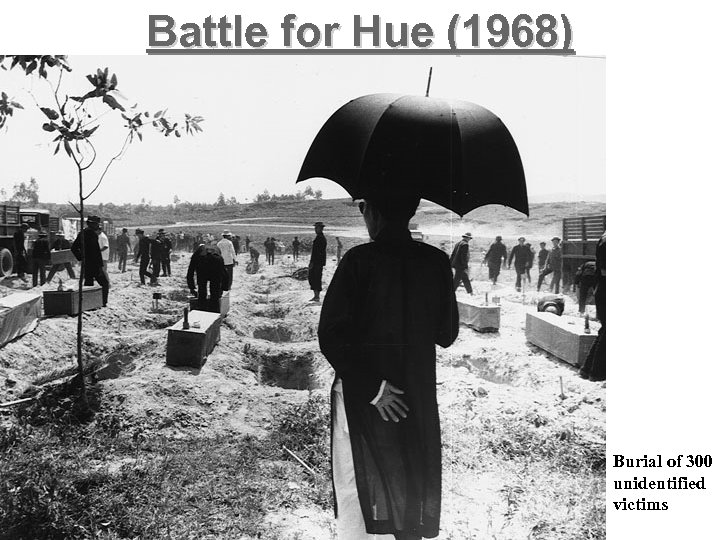 Battle for Hue (1968) Burial of 300 unidentified victims