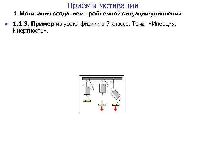 Приёмы мотивации 1. Мотивация созданием проблемной ситуации-удивления n 1. 1. 3. Пример из урока