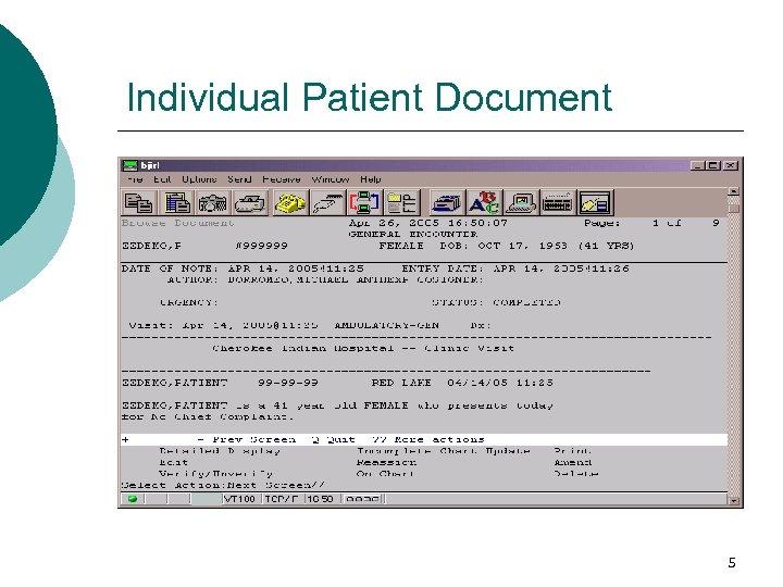 Individual Patient Document 5