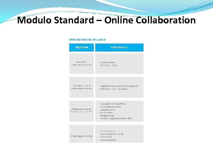 Modulo Standard – Online Collaboration