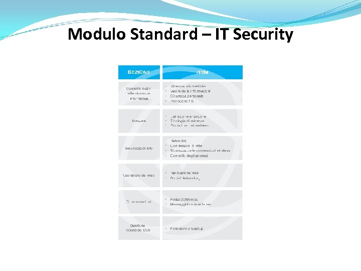 Modulo Standard – IT Security
