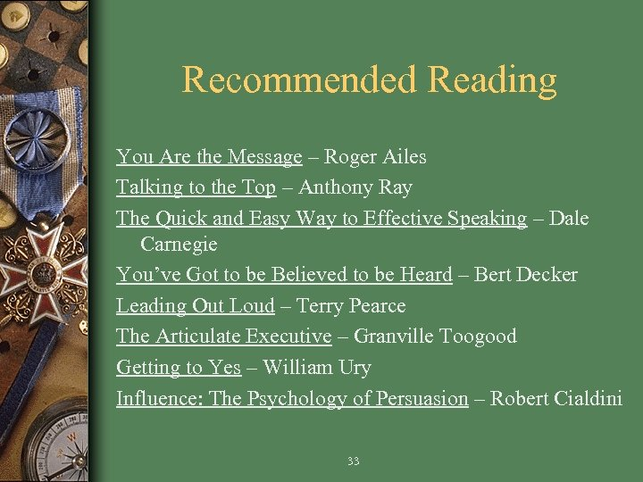 Recommended Reading You Are the Message – Roger Ailes Talking to the Top –