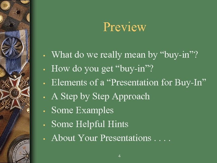 """Preview • • What do we really mean by """"buy-in""""? How do you get"""