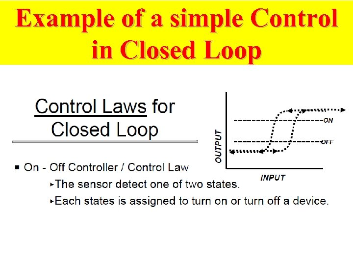 Example of a simple Control in Closed Loop