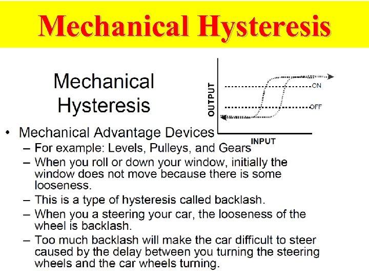 Mechanical Hysteresis