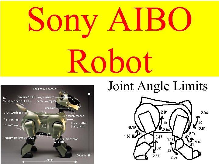 Sony AIBO Robot Joint Angle Limits