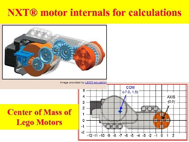 NXT® motor internals for calculations Center of Mass of Lego Motors
