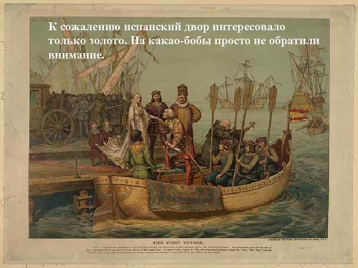 К сожалению испанский двор интересовалона них К сожалению испанский двор не обратил только золото.