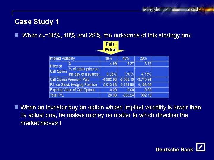 12 Case Study 1 n When σY=38%, 48% and 28%, the outcomes of this