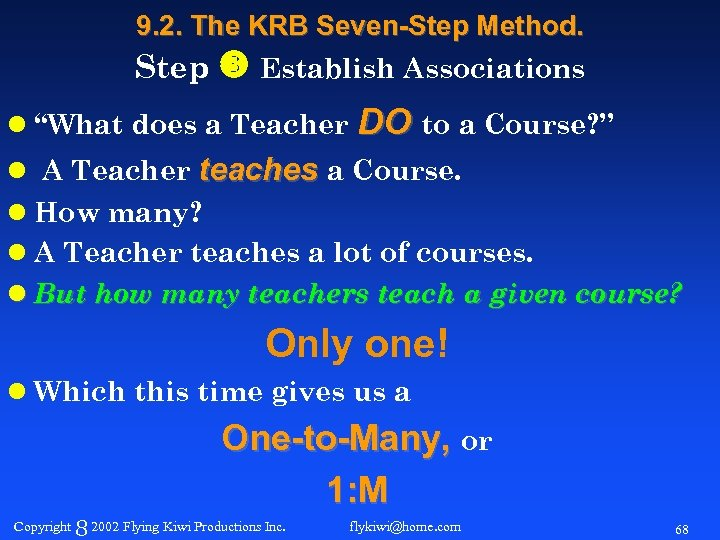"9. 2. The KRB Seven-Step Method. Step Establish Associations l ""What does a Teacher"