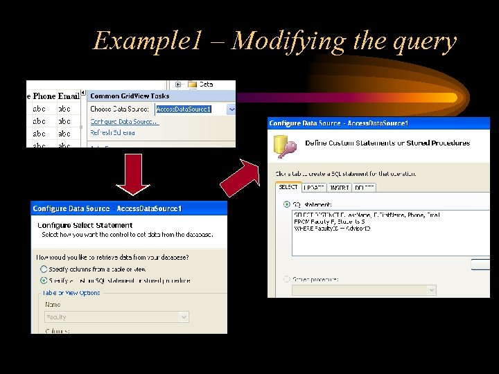 Example 1 – Modifying the query