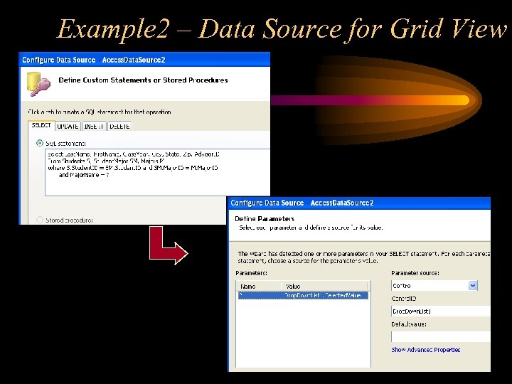 Example 2 – Data Source for Grid View