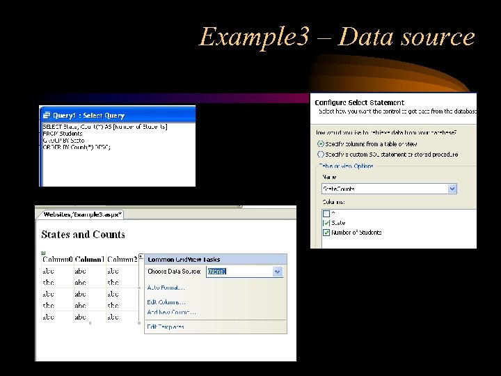 Example 3 – Data source
