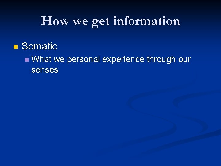 personal experience definition