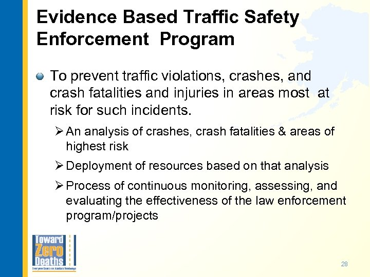 Evidence Based Traffic Safety Enforcement Program To prevent traffic violations, crashes, and crash fatalities