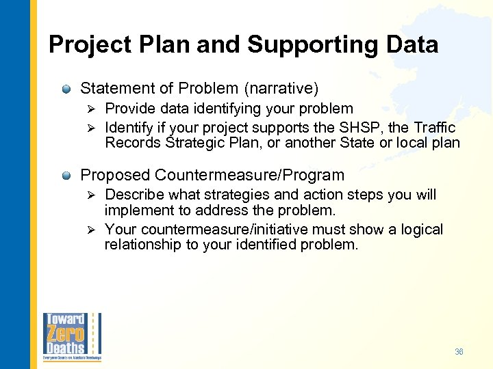 Project Plan and Supporting Data Statement of Problem (narrative) Provide data identifying your problem