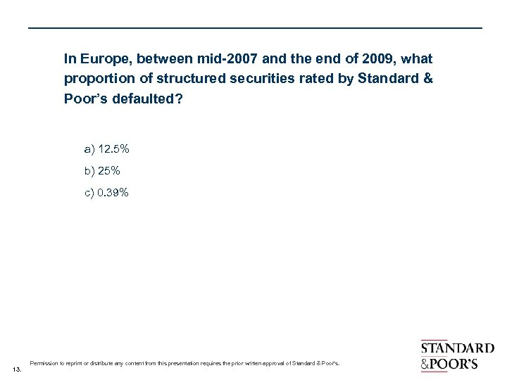 In Europe, between mid-2007 and the end of 2009, what proportion of structured securities