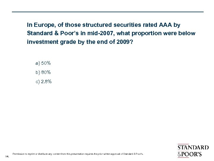 In Europe, of those structured securities rated AAA by Standard & Poor's in mid-2007,