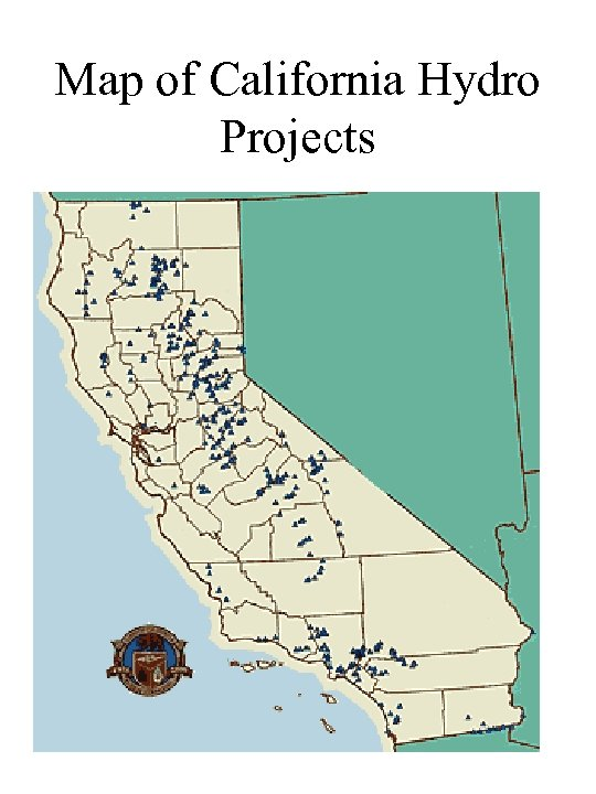 Map of California Hydro Projects