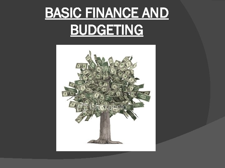 BASIC FINANCE AND BUDGETING