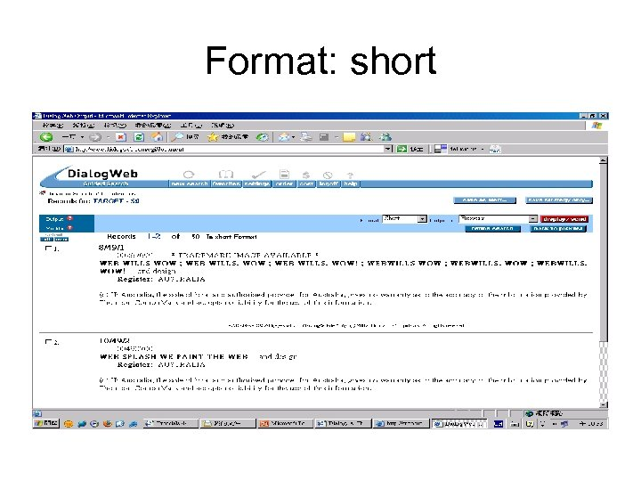 Format: short