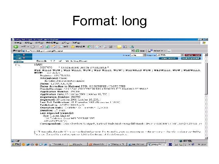 Format: long