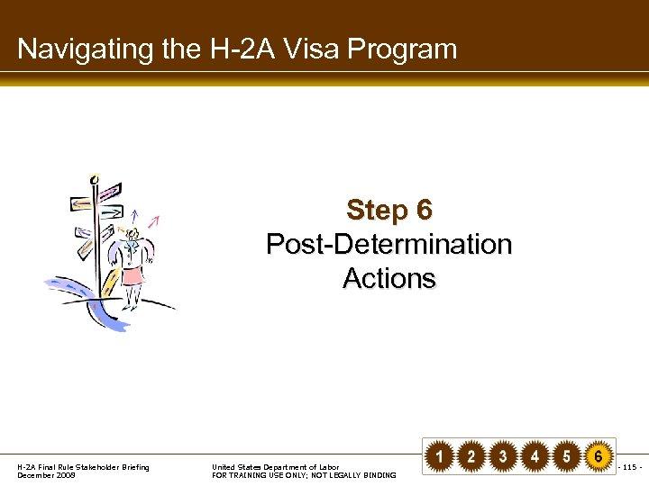 Navigating the H-2 A Visa Program Step 6 Post-Determination Actions H-2 A Final Rule
