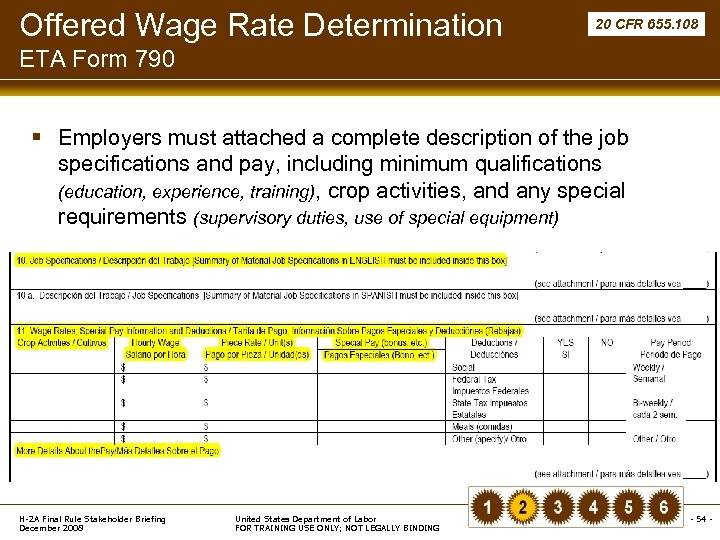 Offered Wage Rate Determination 20 CFR 655. 108 ETA Form 790 § Employers must