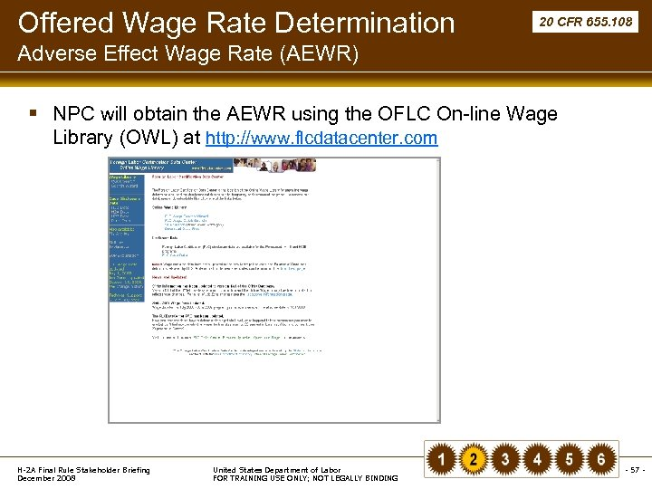 Offered Wage Rate Determination 20 CFR 655. 108 Adverse Effect Wage Rate (AEWR) §