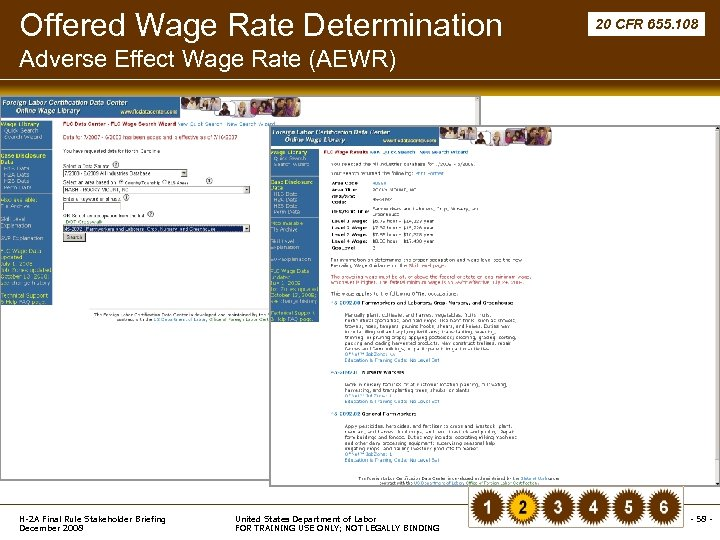 Offered Wage Rate Determination 20 CFR 655. 108 Adverse Effect Wage Rate (AEWR) H-2