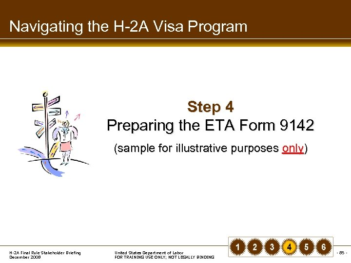 Navigating the H-2 A Visa Program Step 4 Preparing the ETA Form 9142 (sample