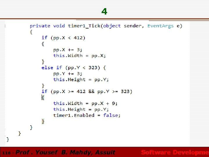 4 116 - Prof. Yousef B. Mahdy, Assuit Software Developmen Software Developme