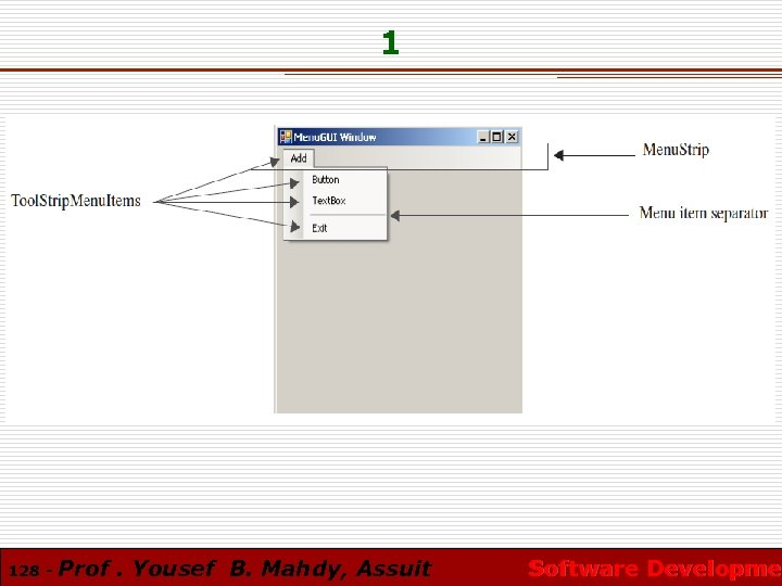 1 128 - Prof. Yousef B. Mahdy, Assuit Software Developmen Software Developme