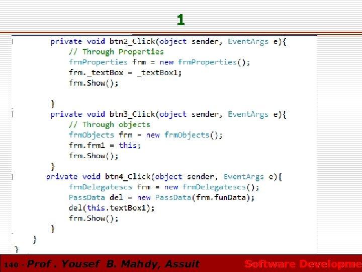 1 140 - Prof. Yousef B. Mahdy, Assuit Software Developmen Software Developme