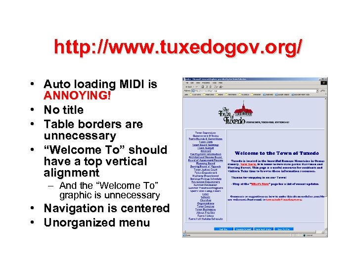 http: //www. tuxedogov. org/ • Auto loading MIDI is ANNOYING! • No title •