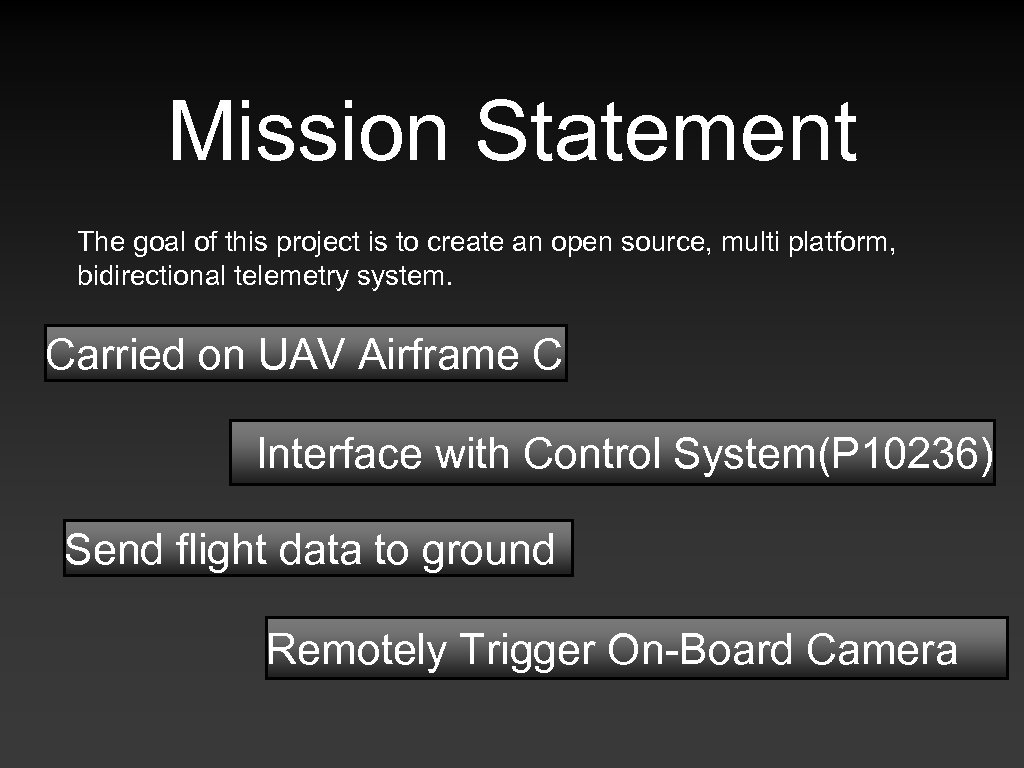 Mission Statement The goal of this project is to create an open source, multi